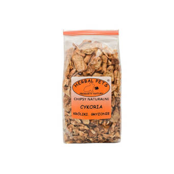 HERBAL PETS CHIPSY NATURALNE CYKORIA 125G GRYZONIE