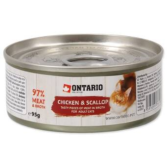 1.2. ONTARIO CAT Chicken Pieces+Scallop - 95 g
