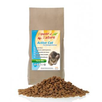 1.2. Power of Nature Active Cat Farm Mix 2kg - kurczak, łosoś, jagnięcina i brązowy ryż