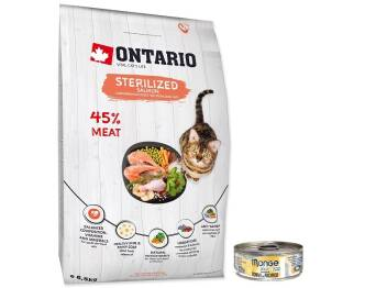ONTARIO CAT STERILIZED 6,5KG SALMON + MONGE GRATIS