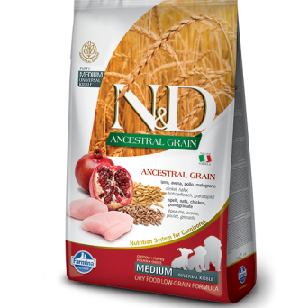 FARMINA N&D LOW GRAIN CHICKEN & POMEGRANTE PUPPY MEDIUM DOG 12kg