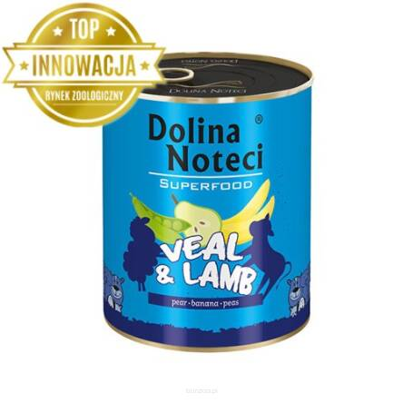 DOLINA NOTECI SUPERFOOD CIELĘCINA JAGNIĘCINA 800 g