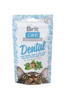 BRIT CARE DENTAL CAT SNACK TURKEY CHICKEN 50G