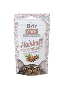 BRIT CARE HAIRBALL CAT SNACK DUCK CHICKEN 50G