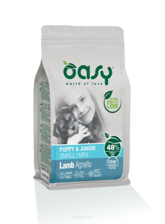 OASY ONE ANIMAL PROTEIN PUPPY JUNIOR SMALL/MINI LAMB 2,5KG