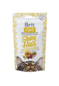 BRIT CARE SHINY HAIR CAT SNACK SALMON CHICKEN 50G