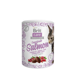 BRIT CARE CAT STERILISED ŁOSOŚ ŻURAWINA 100G